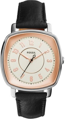 Women's Fossil 'Idealist' Leather Strap Watch, 38Mm $115 thestylecure.com