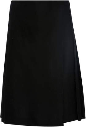 Burberry Pleated Wool-Crepe Kilt