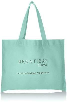 Brontibayparis (ブロンティベイ パリス) - [ブロンティベイパリス] コットンエコバッグ小 A4対応、ショッピングバッグ、折り畳みバッグ、 トートバッグ、コットンバッグ、トートバッグ、エコバッグ、コットンバッグ、サブバッグ、しゃれ CO-ECOS MEN ミント
