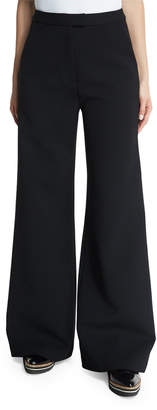 Self-Portrait Self Portrait Ariana Wide-Leg Trousers, Black