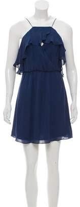 Haute Hippie Flared Silk Mini Dress