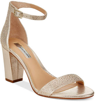 INC International Concepts Kivah Block-Heel Dress Sandals, Only at Macy's $99.50 thestylecure.com
