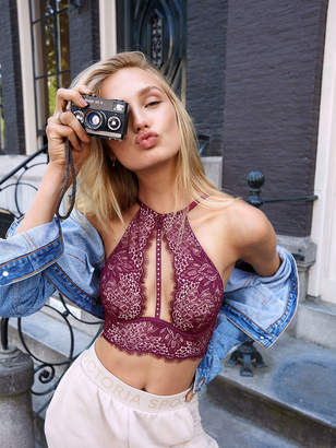 Very Sexy Lace Halter Long Line Bra