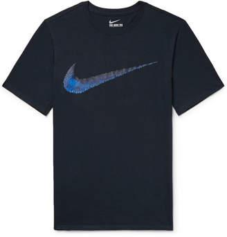 Nike Hangtag Swoosh Printed Cotton-Jersey T-Shirt
