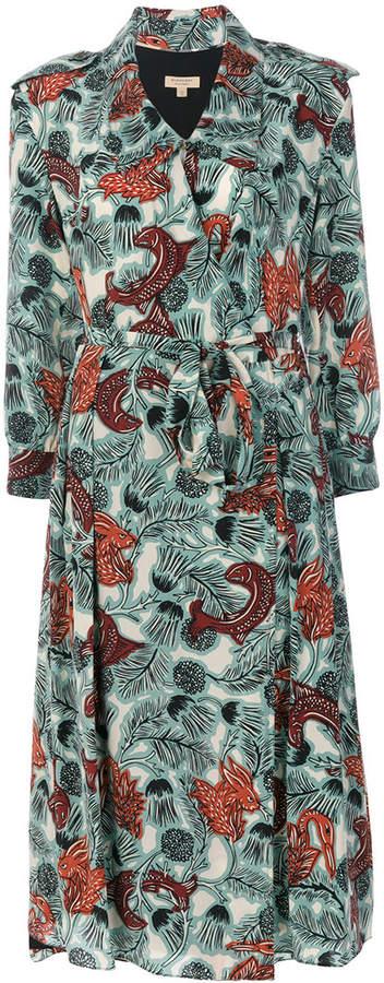 Burberry Beasts print wrap dress