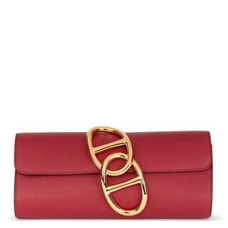 Hermes Egée leather clutch bag