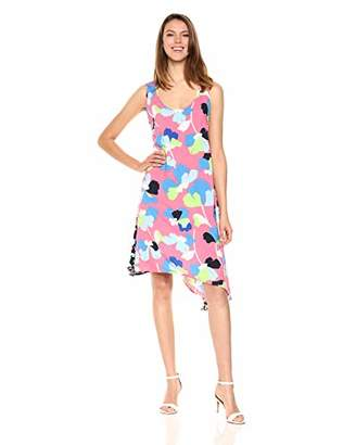 MSK Women's Sleeveless All Over Floral Dress