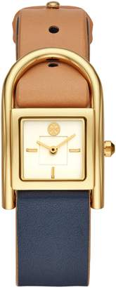 Tory Burch Thayer Leather Strap Watch, 25mm x 39mm