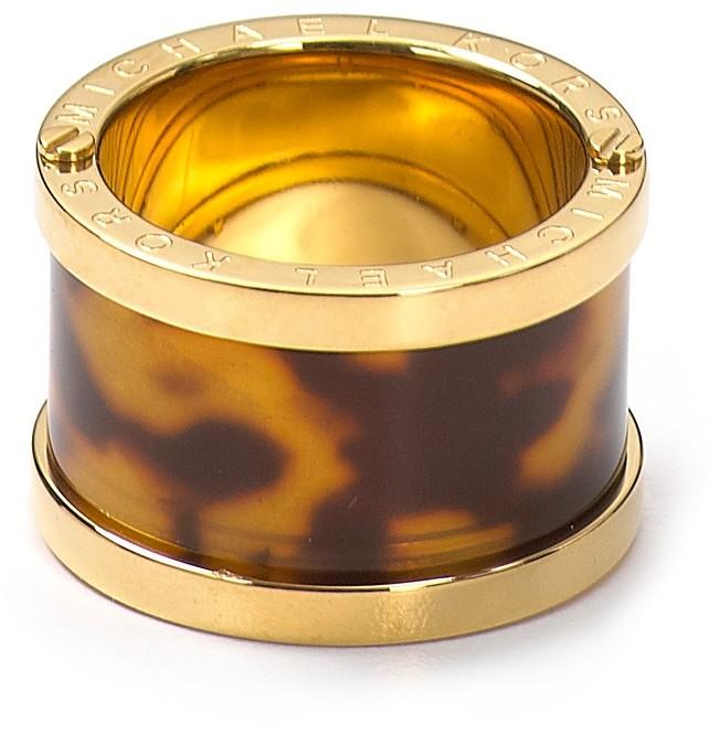 Michael Kors Tortoise Barrel Ring