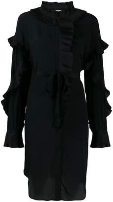 Twin-Set ruffled long sleeve dress