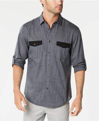 Alfani Men's Warren Contrast-Pocket Woven Shirt