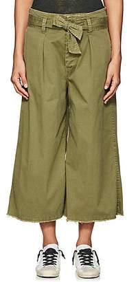 Nili Lotan Women's Ellie Cotton-Blend Drop-Rise Culottes - Army Green