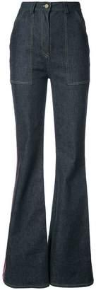Diane von Furstenberg side panel flared jeans