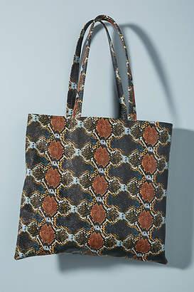 Ceri Hoover Flat Leather Tote Bag