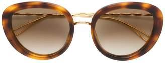Elie Saab tortoiseshell oversized sunglasses