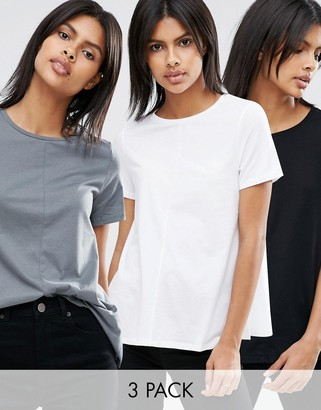 ASOS Swing T-Shirt 3 Pack $33 thestylecure.com