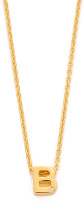 Gorjana Shimmer Block Letter Necklace $50 thestylecure.com