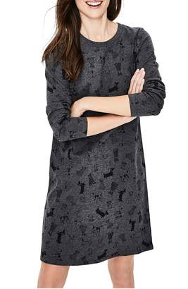 Boden Doodle Dog Cotton Sweatshirt Dress
