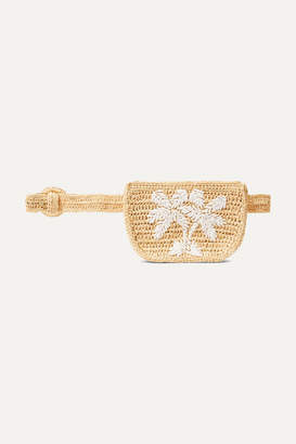 Zimmermann Raffia Belt Bag - Beige