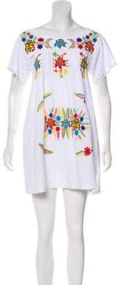 Sensi Studio Embroidered Short Sleeve Mini Dress