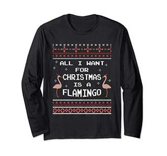 All I Want For Christmas Is A Flamingo Ugly Sweater Shirt
