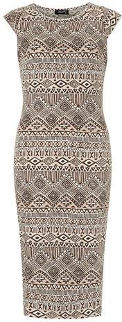 Dorothy Perkins Cream cap sleeve midi dress
