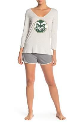 Munki Munki Colorado State Long Sleeve & Knit Shorts 2-Piece Pajama Set