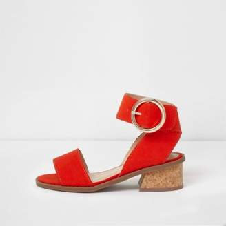River Island Girls red flared heel sandals