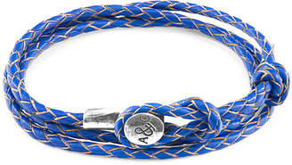 "Anchor And Crew Sterling Silver & Braided Leather Bracelet ""Dundee"""