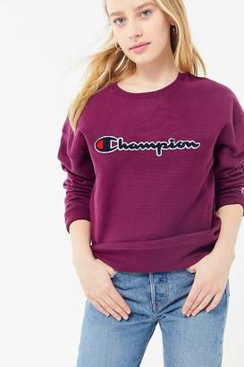 Champion Satin Stitch Crew-Neck Sweatshirt