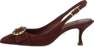 Dolce & Gabbana Jeweled Suede Slingback