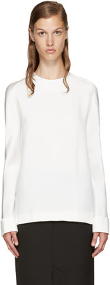 Haider Ackermann Ivory Crepe Blouse $1,035 thestylecure.com