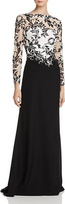 Tadashi Shoji Lace-Bodice Gown $448 thestylecure.com