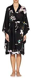 Carine Gilson Women's Floral Silk Kimono - Black