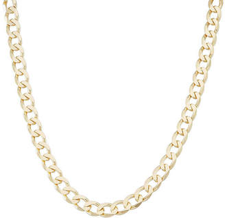 FINE JEWELRY Mens 18K Yellow Gold Over Silver 8.8mm 24 Curb Chain Necklace