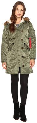 Alpha Industries - Elyse Parka Women's Jacket $225 thestylecure.com