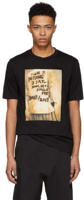 3.1 Phillip Lim Black Photo Reconstructed T-Shirt
