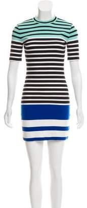 Alexander Wang Striped Fitted Mini Dress