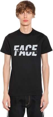 Facetasm Face Printed Cotton Jersey T-Shirt