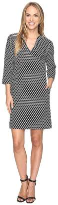 Karen Kane Diamond Print Shift Dress Women's Dress