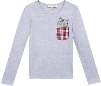 Lili Gaufrette Lechat Kitty Pocket T-Shirt