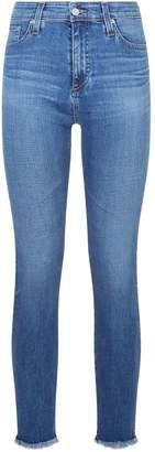AG Jeans Farrah Skinny Ankle Frayed Hem Jeans