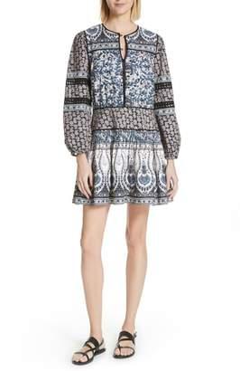 Sea Gemma Contrast Binding Peasant Dress