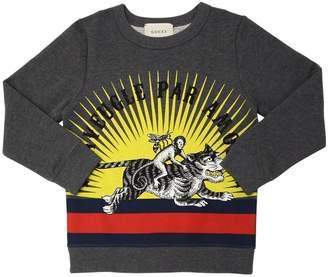 Gucci Tiger Printed Cotton Sweatshirt
