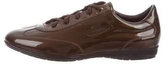 Santoni Patent Leather Tennis Shoes w/ Tags