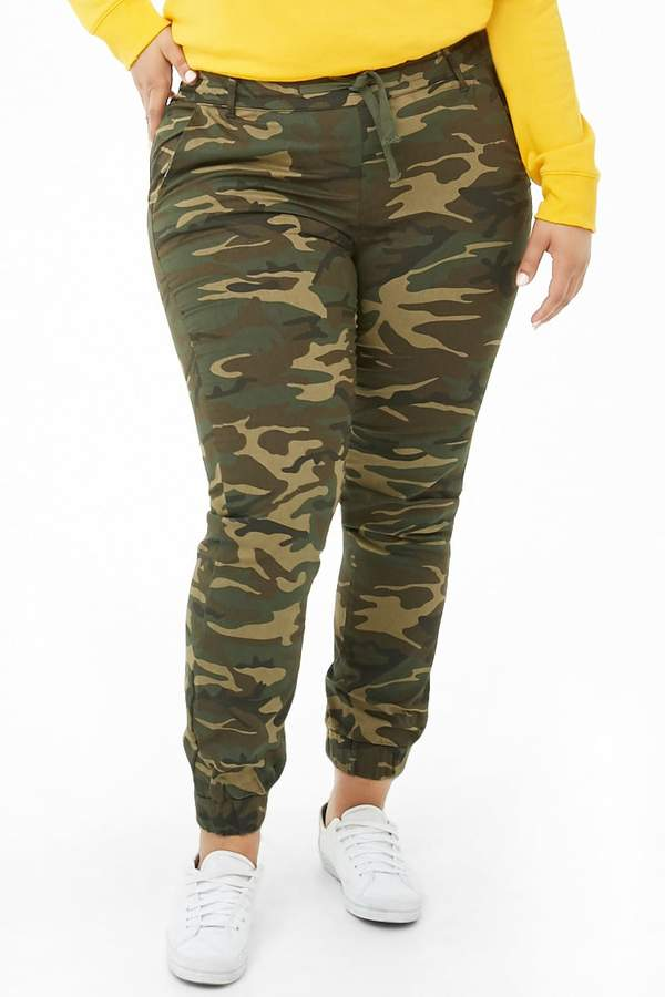 Forever 21 Plus Size Camo Print Joggers