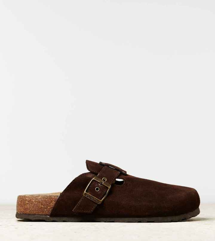 AEO Buckled Suede Clog 3