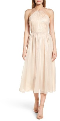 Women's Vera Wang Chiffon Midi Dress $298 thestylecure.com
