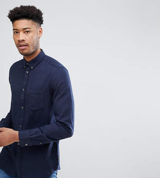 French Connection TALL Flannel Plain Shirt