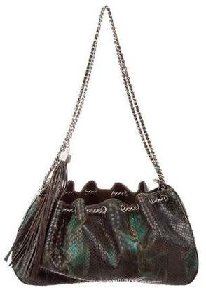 Chanel Python Drawstring Tassel Bag